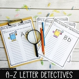 Write the Room: Letter Detective {26 letter worksheets}