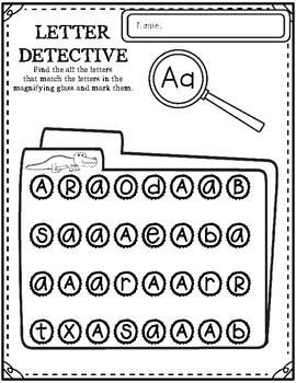 Letter Detective { Alphabet Highlight, Dab, or Color } NO PREP PRINTABLE