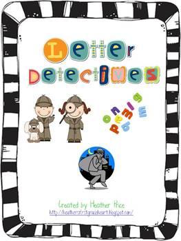 letter detectives by heather 39 s heart teachers pay teachers. Black Bedroom Furniture Sets. Home Design Ideas