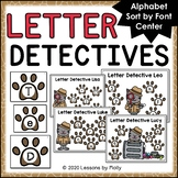 Letter Detectives Alphabet Sorting Center