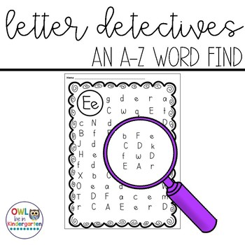 Letter Detectives:  An A-Z Letter Search
