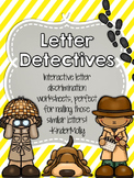 Letter Detectives - Letter Discrimination Worksheets