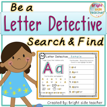 Letter Detectives-  Letter Formation and Search and Find with Write the Room