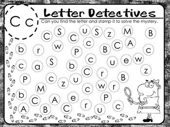 Letter Detectives- Letter Recognition Activity