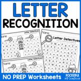 Letter Detectives | Letter Recognition Worksheets