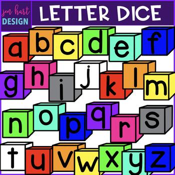 Alphabet Letters Clip Art - Lowercase Letter Dice {jen hart Clip Art}