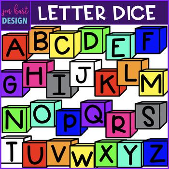 Letter Dice Clip Art Mini Bundle -  {jen hart Clip Art)