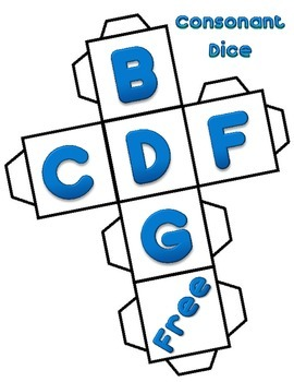 Letter Dice: Consonants and Vowels
