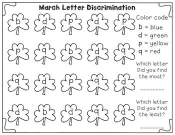 Letter Discrimination Centers for the whole year! Great for tricky b, d, p, & q