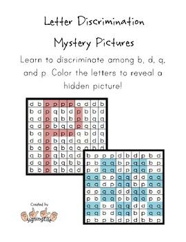 Letter Discrimination Hidden Pictures--b, d, p, q