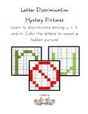 Letter Discrimination Hidden Pictures--n, u, m, h