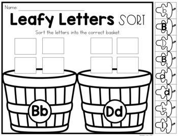 Letter Discrimination Sorts
