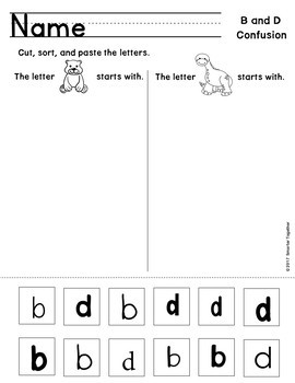 letter discrimination worksheets b and d by smarter together tpt. Black Bedroom Furniture Sets. Home Design Ideas