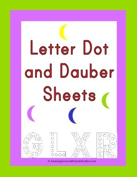 Letter Dot and Dauber Sheets