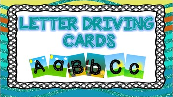 Letter Driving Cards