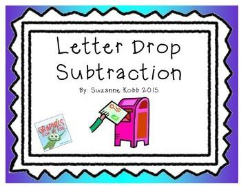 Letter Drop Subtraction Center
