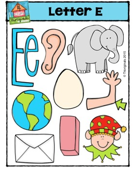Letter E Alphabet Pictures {P4 Clips Trioriginals Digital Clip Art}