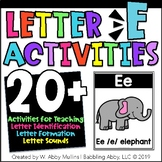 Letter E Activities   Alphabet   Letter Recognition, Formation, and Sounds