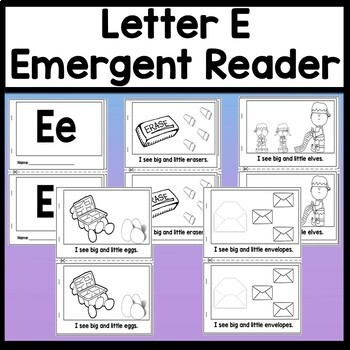 Letter E Activities Letter E Book And 5 Letter E Worksheets Tpt