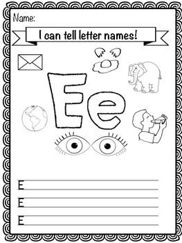 Letter E Activity Pack
