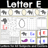 Letter E Activity and Center Packet