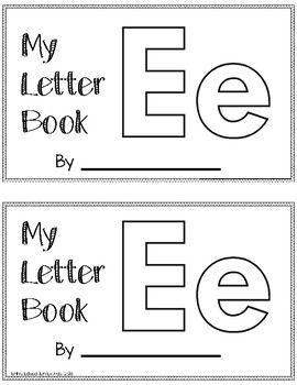 Letter E Alphabet Activity Book