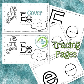 Letter E Alphabet Book - Helps Students Learn Letters and Sounds - ABC Book