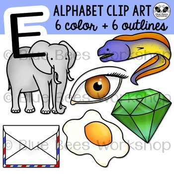 Letter E Clip Art Alphabet / Beginning Sound E