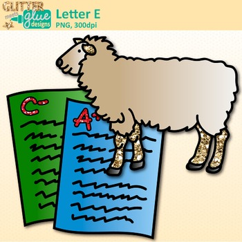 Letter E Alphabet Clip Art | Teach Phonics, Recognition, and Identification