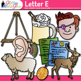 Letter E Alphabet Clip Art {Teach Phonics, Recognition, an