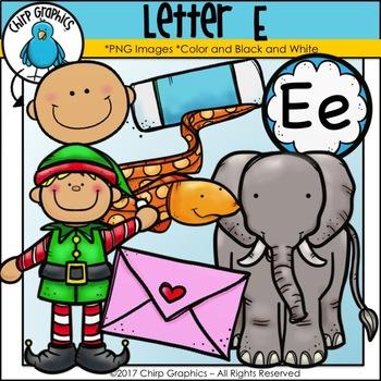 Letter E Alphabet Clip Art Set - Chirp Graphics