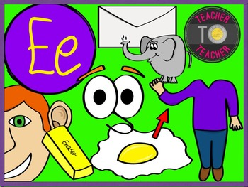 Letter E - Alphabet Clipart {TeacherToTeacher Clipart}