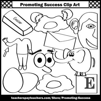 Letter E, Alphabet Letters Clip Art, Letter Sounds Clipart SPS