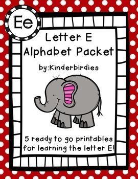 Letter E Alphabet Packet