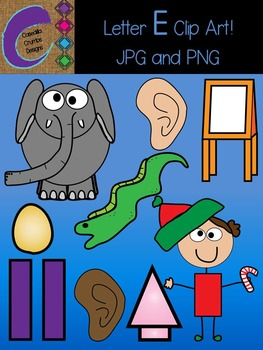 Letter E Beginning Sound Clip Art Alphabet