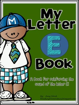 Letter E Book of Beginning Sounds-Emergent Reader w/Running Record-CCSS Aligned