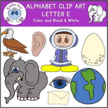 Letter E Clip Art {Beginning Sounds} Alphabet