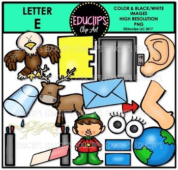 Letter E Clip Art Bundle {Educlips Clipart}