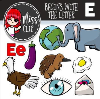 Letter E Clip Art Bundle {Miss Clip} Alphabet Commercial Use