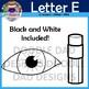 Letter E Clip Art (Earth, Ear, Eggplant, Eye, Egg, Eraser)