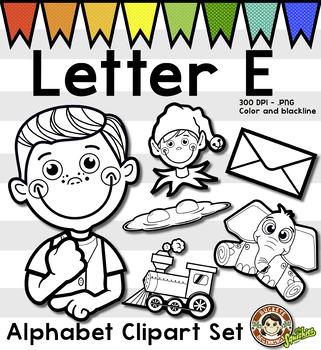 Letter E Clip Art - Phonics ClipArt Set/Beginning Sounds