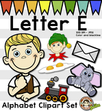Letter E Clip Art - Phonics ClipArt Set/Beginning Sounds
