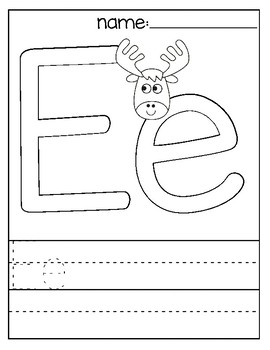 Letter E Coloring Page By Teacher Coloring Store Tpt