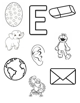 Letter E Coloring Page By Early Childhood Resource Center Tpt