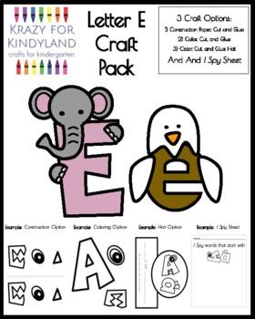 Letter E Craft Pack For Kindergarten
