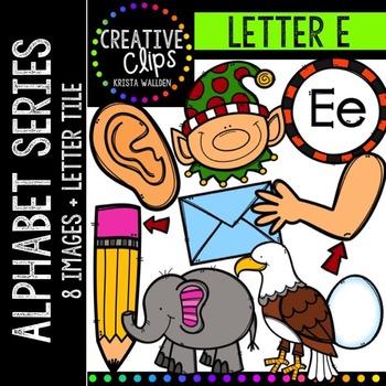 Letter E {Creative Clips Digital Clipart}