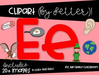 Letter E Digital Clipart