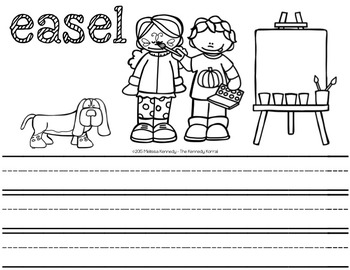 Letter E is for Easel