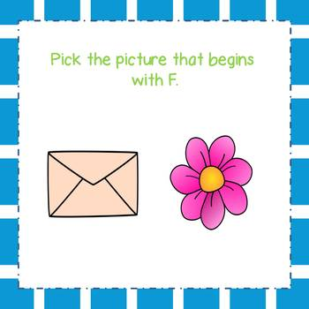 Letter F Identification Interactive Task Cards Boom Cards with Sound