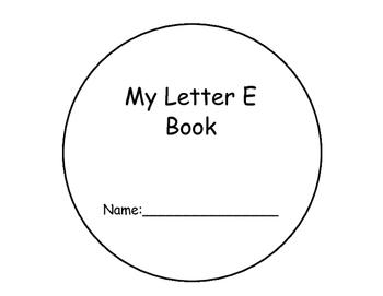 Letter E Interactive Book